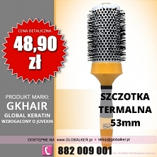 Global Keratin GK Hair szczotka termalna okrągła 53mm thermal round brush cen...
