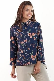 Asymetryczna koszula w kwia...