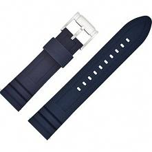 Pasek do zegarka FOSSIL silikonowy męski S221302 22 mm Granatowy