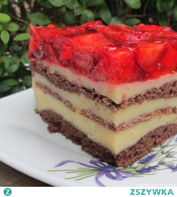 Pyszne i łatwe ciasto z truskawkami