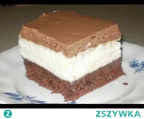 Lekki sernik z czekoladową pianką