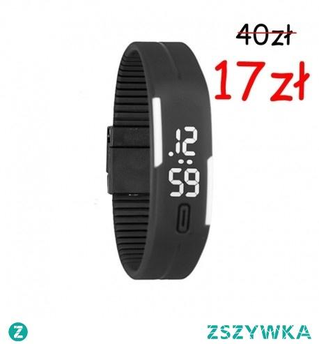WYPRZEDAŻ MAGAZYNU!!  Dostępny w 11 kolorach !! <3 Nowoczesny, wodoodporny Zegarek LED o podwyższonej odporności na wstrząsy. Godzina jest wyświetlana po naciśnięciu odpowiedniego przycisku, dzięki czemu bateria nie jest cały czas rozładowywana oraz zegarek zachowuje swój atrakcyjny wygląd.  MECHANIZM: Kwarcowy TARCZA:  Cyfrowa-LED PASEK: Poliwęglan-wodoodporne WODOSZCZELNOŚĆ: Wodoszczelny na poziomie 3 BAR -> Kliknij w zdjęcie, by przejść do sklepu - CzasNaZegarki.pl