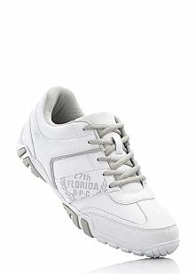 Buty sznurowane bonprix biało-szary