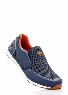 Buty sportowe wsuwane Lico bonprix ciemnoniebiesko-pomarańczowy