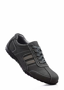 Sneakersy bonprix czarno-szary
