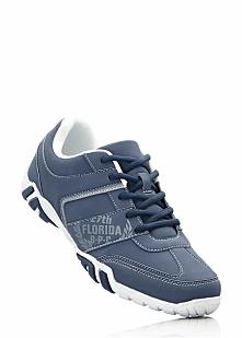 Buty sznurowane bonprix niebiesko-biało-jasnoszary