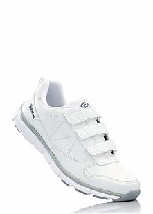 Buty sportowe skórzane Brütting bonprix biały