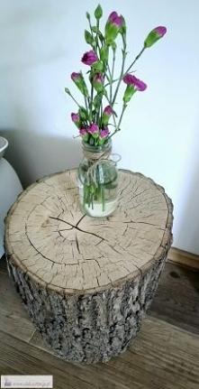 Stolik z pnia drzewa DIY