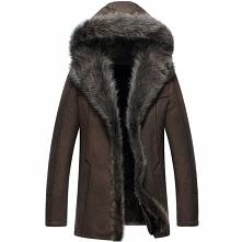 Men Fur Coat | CWMALLS® Perth Mens Hooded Fur Shearling Coat CW855286 [Custom...