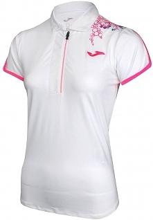 Joma sport Koszulka damska Zip 900165.218 biało-różowa r. S (900165.218)