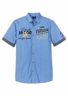 Koszula z krótkim rękawem Regular Fit bonprix niebieski