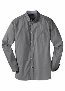 Koszula z długim rękawem Regular Fit bonprix dymny szary