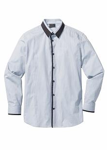 Koszula Regular Fit bonprix jasnoszary w paski
