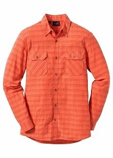 Koszula z długim rękawem Regular Fit bonprix pomarańczowy