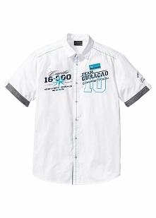 Koszula z krótkim rękawem Regular Fit bonprix biały