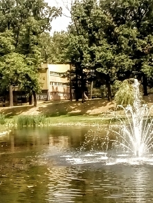 Łódzki park Helenów. Trzecia fontanna.