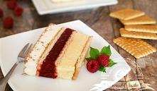 Malinowo-advocatowe ciasto bez pieczenia
