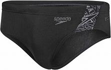 Speedo Kąpielówki Boom Splice 7cm Brief Black/Oxid Grey 36