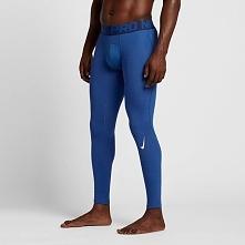 Nike Spodnie męskie Men's Pro Warm Tight niebieski r. S (725039 480)