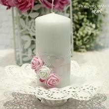 świeca dekoracyjna na stół weselny :)