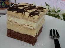 Ciasto kremowe  biszkopt (na blachę 23 x 38 cm): 6 jajek 1 szklanka cukru 3/4...