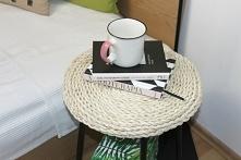 Stolik nocny w letniej odsłonie - sposób na to jak zrobić słomiany stolik DIY już na blogu