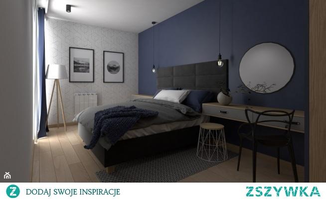 Niebieska Sypialnia Od Vinso Projektowanie Wnętrz Zapraszamy Na