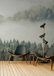 Las we mgle na ścianie - kto z Was chciałby zamieszkać w takim otoczeniu? :)