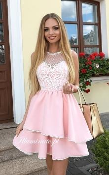 Śliczna różowa sukienka z przepiękną górą z kolekcji Illuminate <3