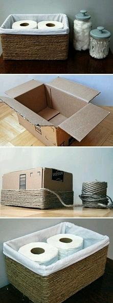Zwykłe pudełko kartonowe i sznurek