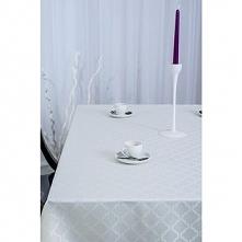 Obrus Ricamo żakadrowy 110x160cm Biały