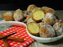 Mini pączki waniliowe        400 gr serka waniliowego     2 szklanki mąki (ok 300 gr)     4 jajka     2 łyżeczki proszku do pieczenia     szczypta soli      3 łyżki cukru pudru ...