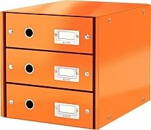 Leitz Pojemnik, szafka Leitz Click & Store z 3 szufladami Pomarańczowy (10K268L)