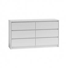 Duża komoda szafka 6 szuflad 140cm biała karo k140