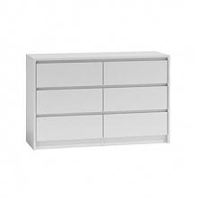 Duża komoda szafka 6 szuflad 120cm biała karo k120