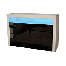 Komoda konsola max 4 salon b/mat czarny połysk led