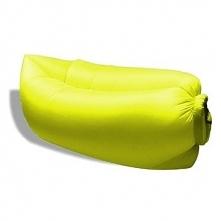 Dmuchana sofa 250x70cm z torbą do przechowywania żółta