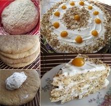 Ciasto miodowe z kwaśną śmietaną  Торт медовый со сметанным кремом  1,5 szkla...