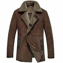 Mens Sheepskin Coat | CWMALLS® Leeds Mens Vintage Sheepskin Coat CW808228 [Cu...