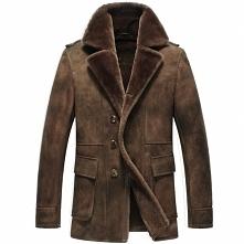 Mens Sheepskin Jacket | CWMALLS® Sheffield Mens Brown Sheepskin Coat CW808206...