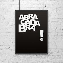 Plakat dekoracyjny 50x70 cm ABRACADABRA czarny DS-PL3-1 - DS-PL3-1