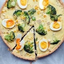 tarta z kurczakiem, brokuła...