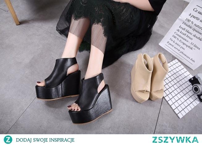 Sandały na bardzo wysokiej platformie i koturnie :) kliknij