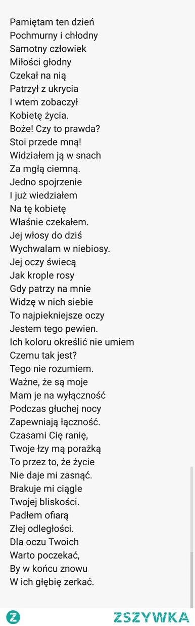 Wiersz dla chłopaka