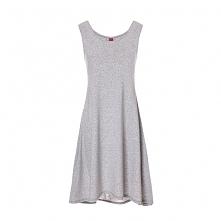 Sukienka na ramiona z kieszeniami jasny szary
