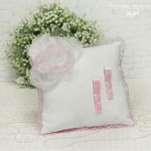 Poduszka pod obrączki w różu :)