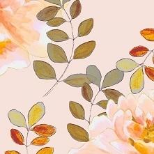 Materiał z wydrukowanym wzorem: Romantyczny wzór w kolorach pastelowych - cottonbee.pl