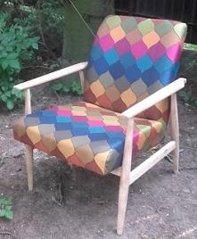 """odnawianie starego fotela z prl """"LISEK"""""""