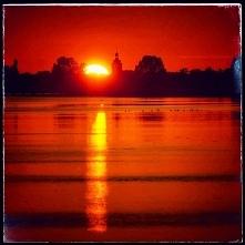 Zachód słońca w Juracie.