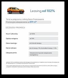 Leasing od 102% na samochody Da cia! Autoryzowany partner finansowy